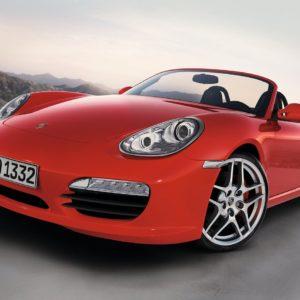 Porsche 997 cabriolet rouge